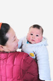 Mother holding baby son Royalty Free Stock Photography