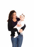 Mother holding baby. Stock Photo