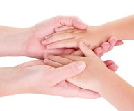 Mother holding childs hands Stock Images