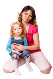 Mother holding daughter Royalty Free Stock Photos