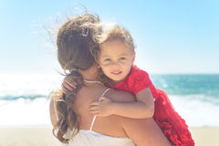 Free Mother Holding Daughter On The Beach Royalty Free Stock Image - 93384866