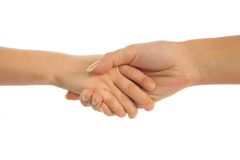 Mother holding hand of son Royalty Free Stock Photo