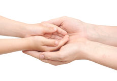 Mother holding a hands of her son Royalty Free Stock Images