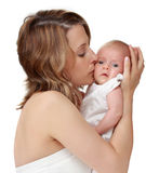 Mother holding her baby Royalty Free Stock Image