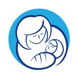 Mother holding her baby Royalty Free Stock Photo