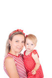 Mother holding her child Royalty Free Stock Photos