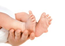 Mother holding her child's feet Royalty Free Stock Photography
