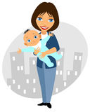 Mother holding her child Stock Photography