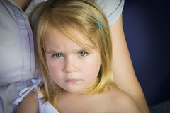 Mother holding her daughter royalty free stock image