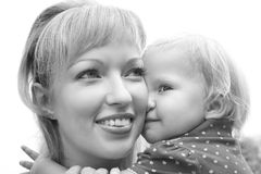 Mother holding her doughter royalty free stock image