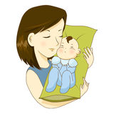 Mother. Holding her little baby with love Royalty Free Stock Photo