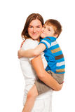 Mother holding and hugging her kid son Royalty Free Stock Photo