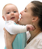 Mother holding little baby Royalty Free Stock Image