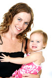 Mother Holding Little Girl Stock Photos