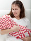 Mother holding newborn baby Stock Images