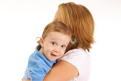 Mother holding Son Royalty Free Stock Photography