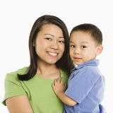 Mother holding son. Stock Photo