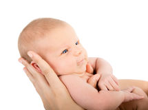 Mother holding sweet baby Royalty Free Stock Image