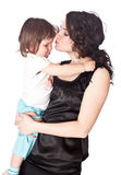 Mother holds daughter on hands Royalty Free Stock Photo