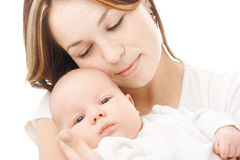 Mother holds her child royalty free stock photos