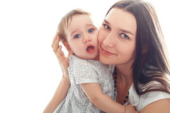 Mother holds her little girl Royalty Free Stock Images