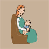 Mother holing her lovely baby Royalty Free Stock Photo