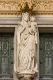 Mother and the Holy Child at the main-entrance Royalty Free Stock Photography