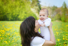 Mother hugging her little child boy Royalty Free Stock Photo