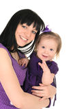 Mother hugging her little daughter Royalty Free Stock Images