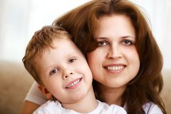 Mother hugging her little son Royalty Free Stock Photo