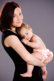 Mother Hugs Baby Royalty Free Stock Photo