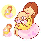 The mother husband holding the baby. Marriage and Parenting Char Royalty Free Stock Images