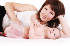 Mother with infant daughter Stock Image