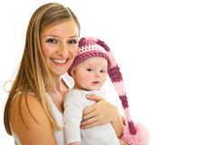 Mother with infant girl Stock Photography
