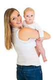 Mother with infant girl Stock Photos