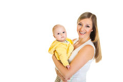 Mother with infant girl Royalty Free Stock Images