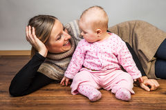 Mother with infant girl Stock Photo
