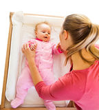 Mother with infant isolated on Royalty Free Stock Images