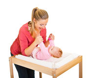 Mother with infant isolated on Royalty Free Stock Photo