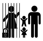 Mother in Jail Royalty Free Stock Images