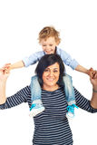Mother and kid boy having fun Royalty Free Stock Photo