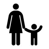 Mother and kid symbol Royalty Free Stock Images