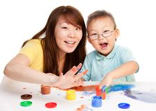 Mother and kid together Royalty Free Stock Photo