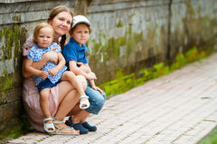 Mother and kids Stock Photos