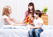 Mother and kids Royalty Free Stock Images