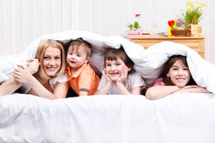 Mother and  kids Stock Photo