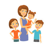 Mother with kids. Happy family. Mom with children Royalty Free Stock Photo