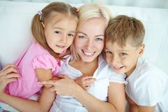 Mother with kids Royalty Free Stock Photo