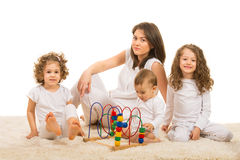 Mother and kids home Royalty Free Stock Photo