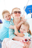 Mother and kids portrait Stock Images